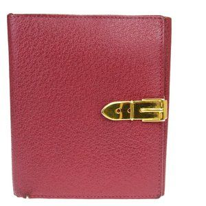 Gucci Leather Wallet (bi-fold) Red Color